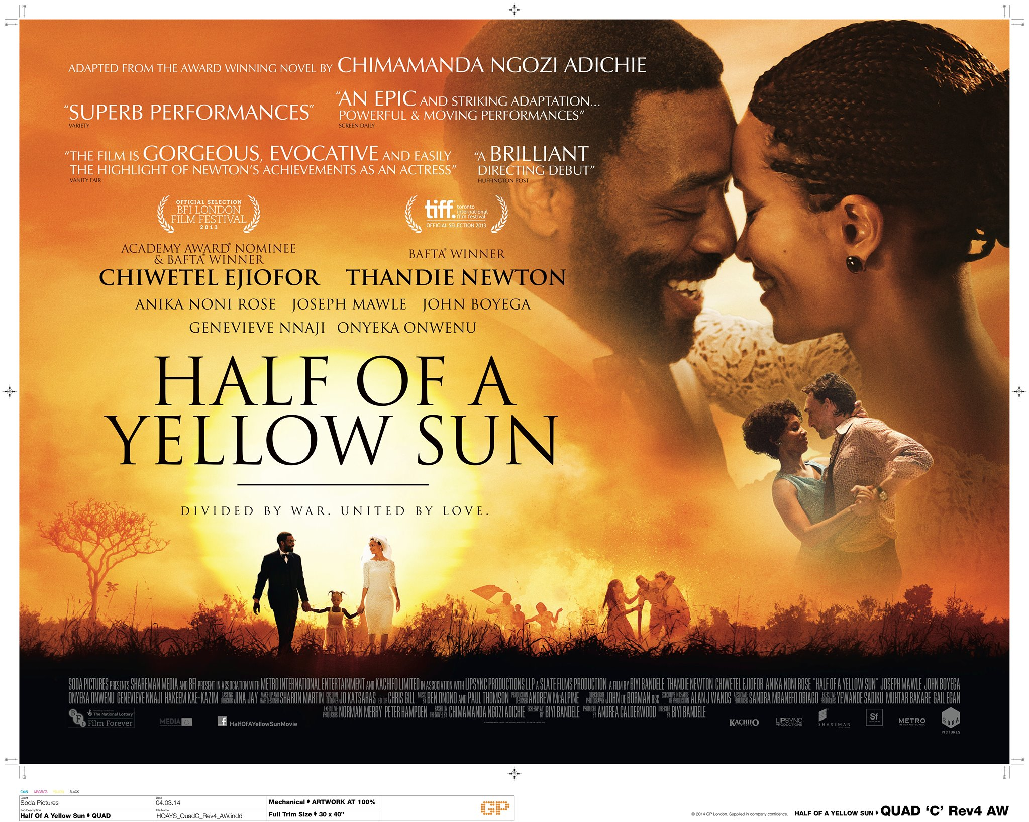 Half of a Yellow Sun wins the Golden Dhow award