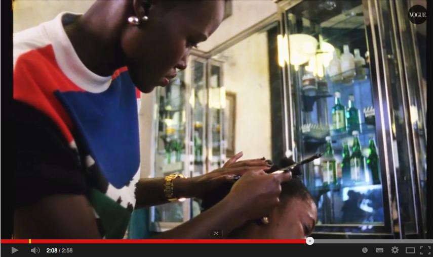 Watch Lupita Nyong'o braid hair for Vogue Magazine