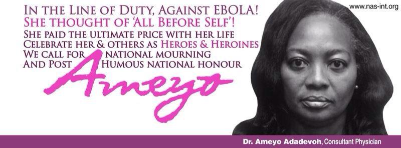 All before self! In the line of duty against ebola…