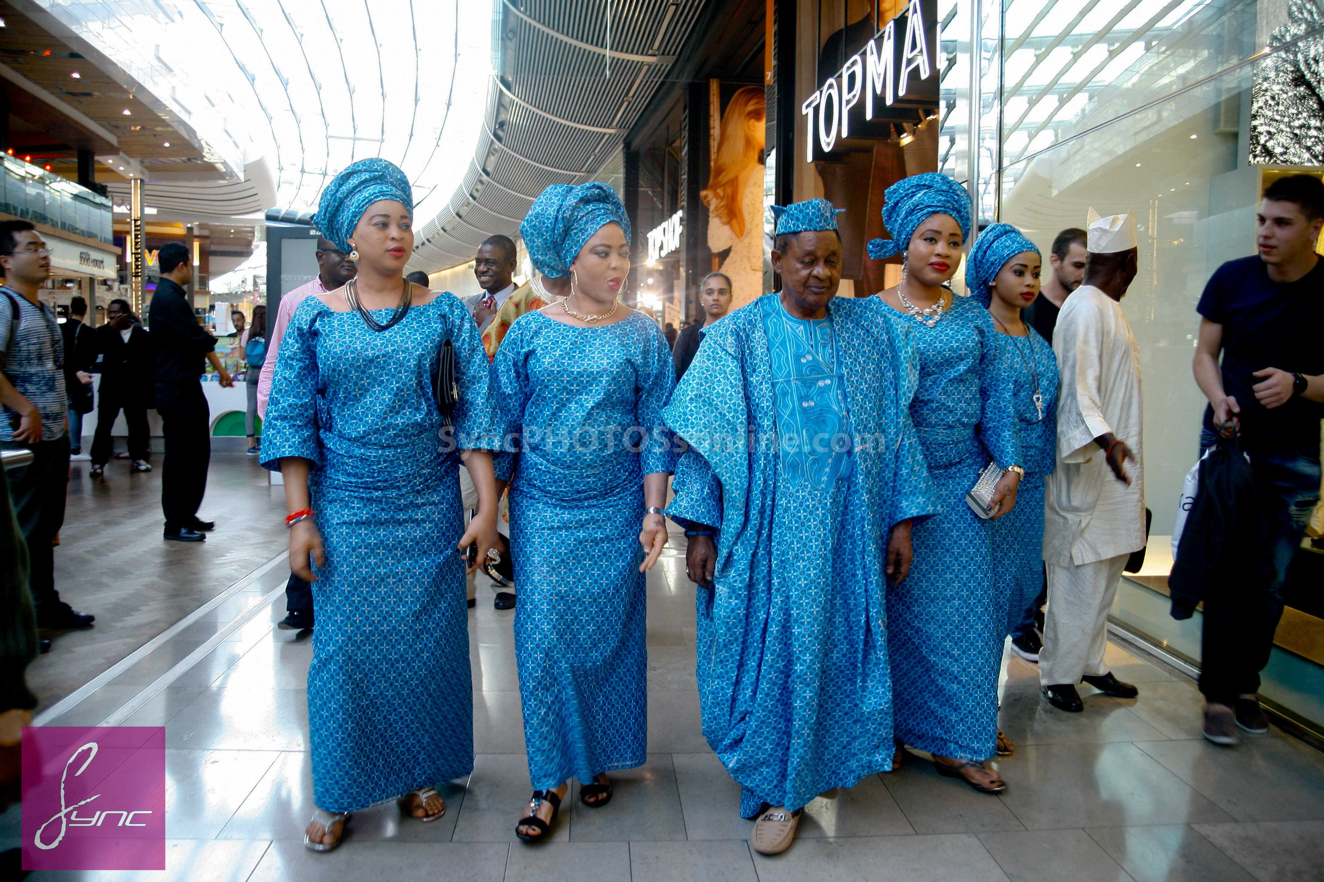 In pictures: Alaafin of Oyo and his 4 wives storm London