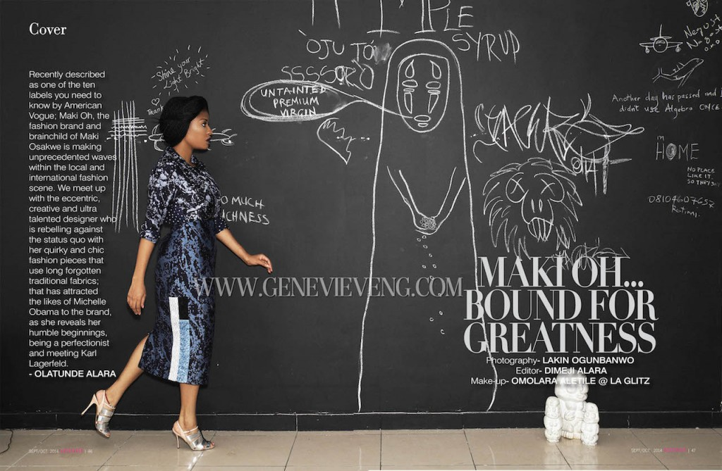 Founder, Maki Oh covers Genevieve Magazine's September/October 2014 issue