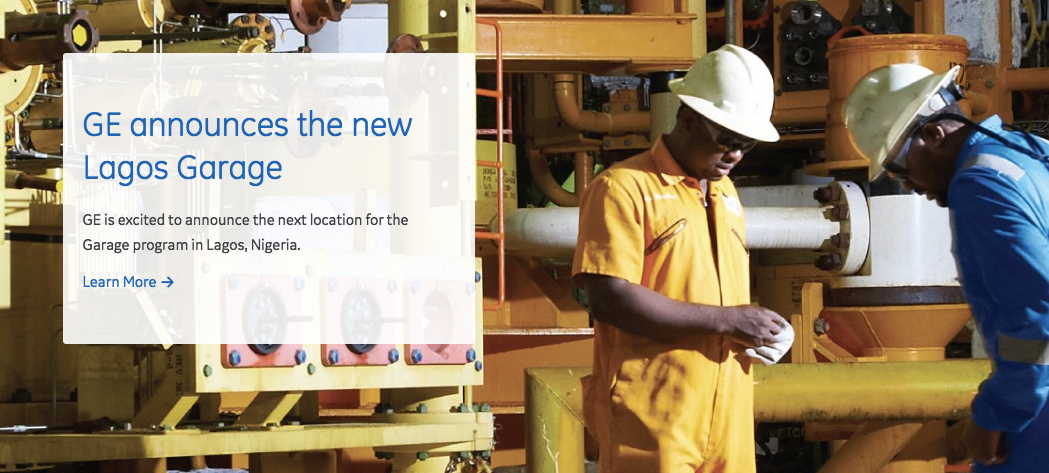 Apply to the Lagos Garage, powered by GE!