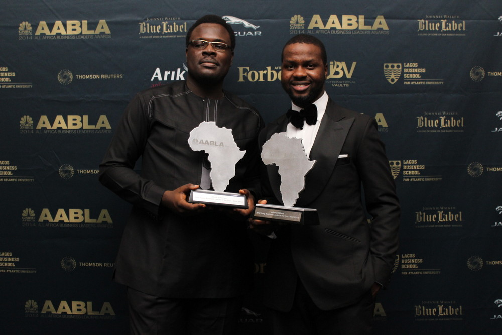 Chude Jideonwo, 29 & Adebola Williams, 28 are winners of the CNBC Africa Young Business Leader of the Year Award … Arunma Oteh, Atedo Peterside also win (PHOTOS)