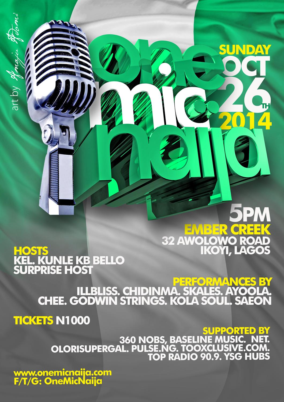 One Mic Naija goes green! (upcoming event)