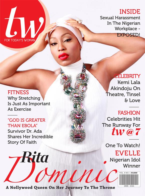 Rita Dominic shines on the cover of TW Magazine