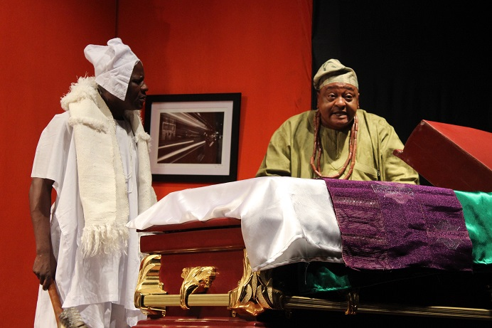 In pictures: Prolific thespians step on stage for The Wives. 2 more days to go!