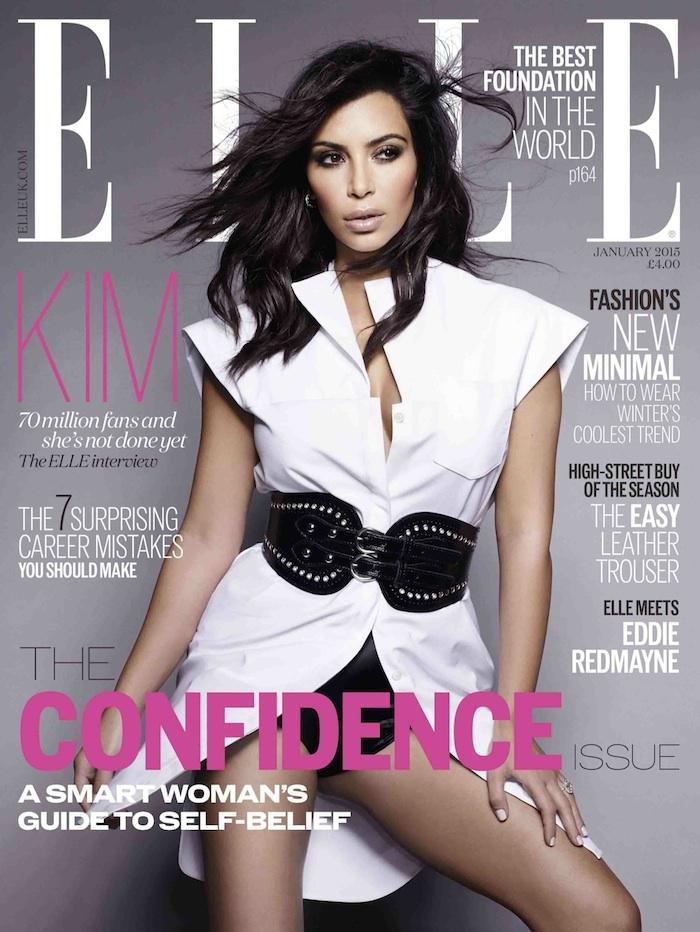 Kim Kardashian West stars in Elle Magazine' (UK) The Confidence Issue