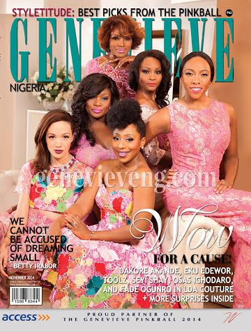 Dakore Akande, Eku Edewor, Toolz, Seyi Shay, Osas Ighodaro and Fade Ogunro dazzle on the cover of Genevieve Magazine
