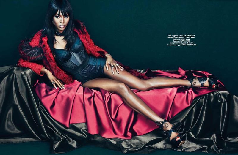 Naomi Campbell Sizzles On The Covers Of L'Officiel Ukraine