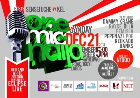 Party this December with Reekado Banks, Dammy Krane, Rayce and more at One Mic Naija