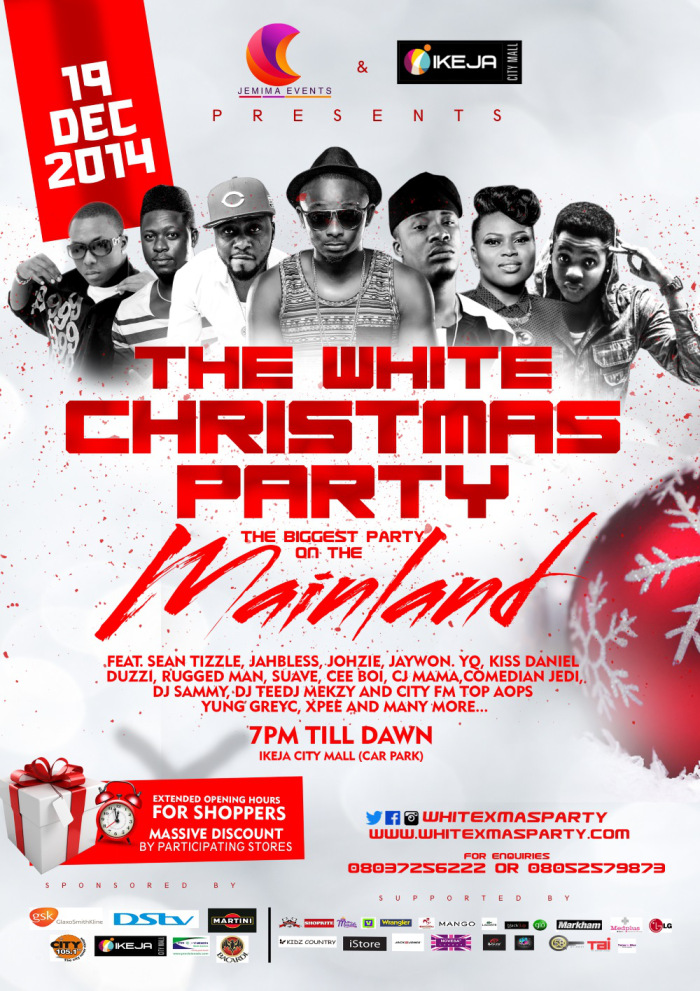 Ikeja City Mall's White Christmas Party Is Today!