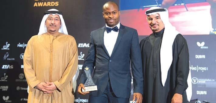 Watch Aruna Quadri Accept His Award At The 2014 ITTF Star Awards In Dubai!