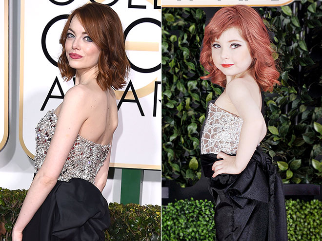 Check Out All Your Favorite Red Carpet Looks From The 2015 Golden Globes In Miniature