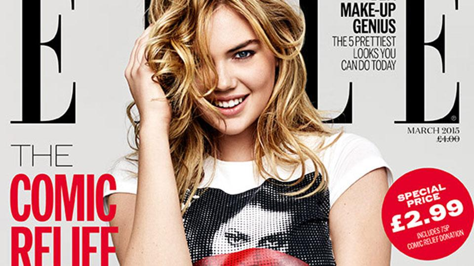 Kate Upton, Keira Knightley, Daisy Love, Pixie Gedolf And Abbey Clancy All Star In Elle Uk's Comic Relief Edition