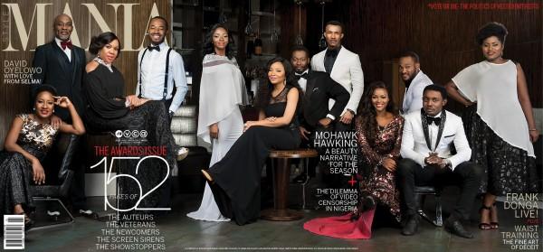 Richard Mofe Damijo, Ireti Doyle, OC Ukeje, AY Makun, Lydia Forson And Gideon Okeke Cover Mania Magazine's February/March Issue