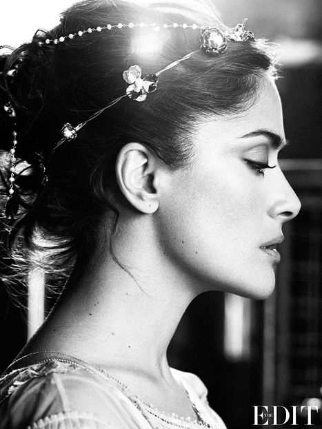 """""""I Was Always Borderline Chubby, Because I Like My Food""""- Salma Hayek For Net-a-Porter's The Edit"""