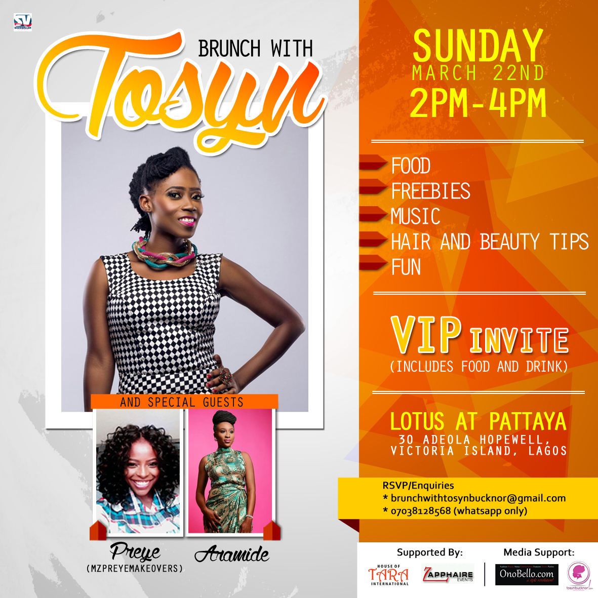 """New Lifestyle Event Series, """"Brunch with Tosyn"""" holds Second Edition this Weekend!"""