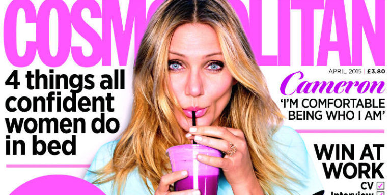 """""""The Fountain Of Youth [For Me] Is Exercise, Lots Of Water, Lots Of Laughter, Lots Of Sex""""- Cameron Diaz For Cosmopolitan UK"""