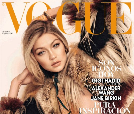 Gigi Hadid Covers Vogue Spain's March 2015 Edition