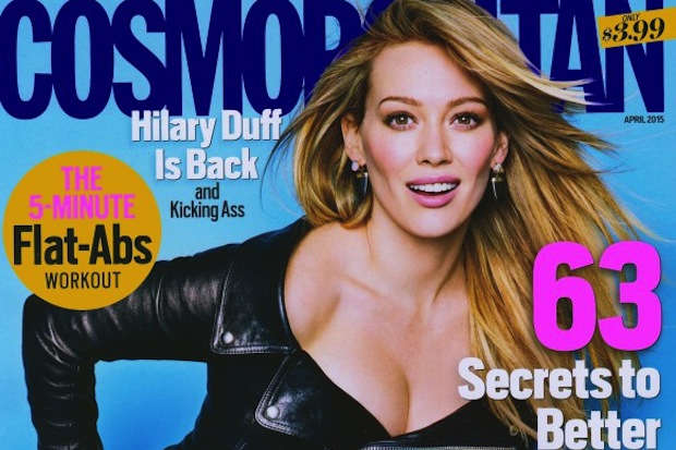 Actress Hilary Duff Is Cosmopolitan Magazine's April 2015 Cover Girl