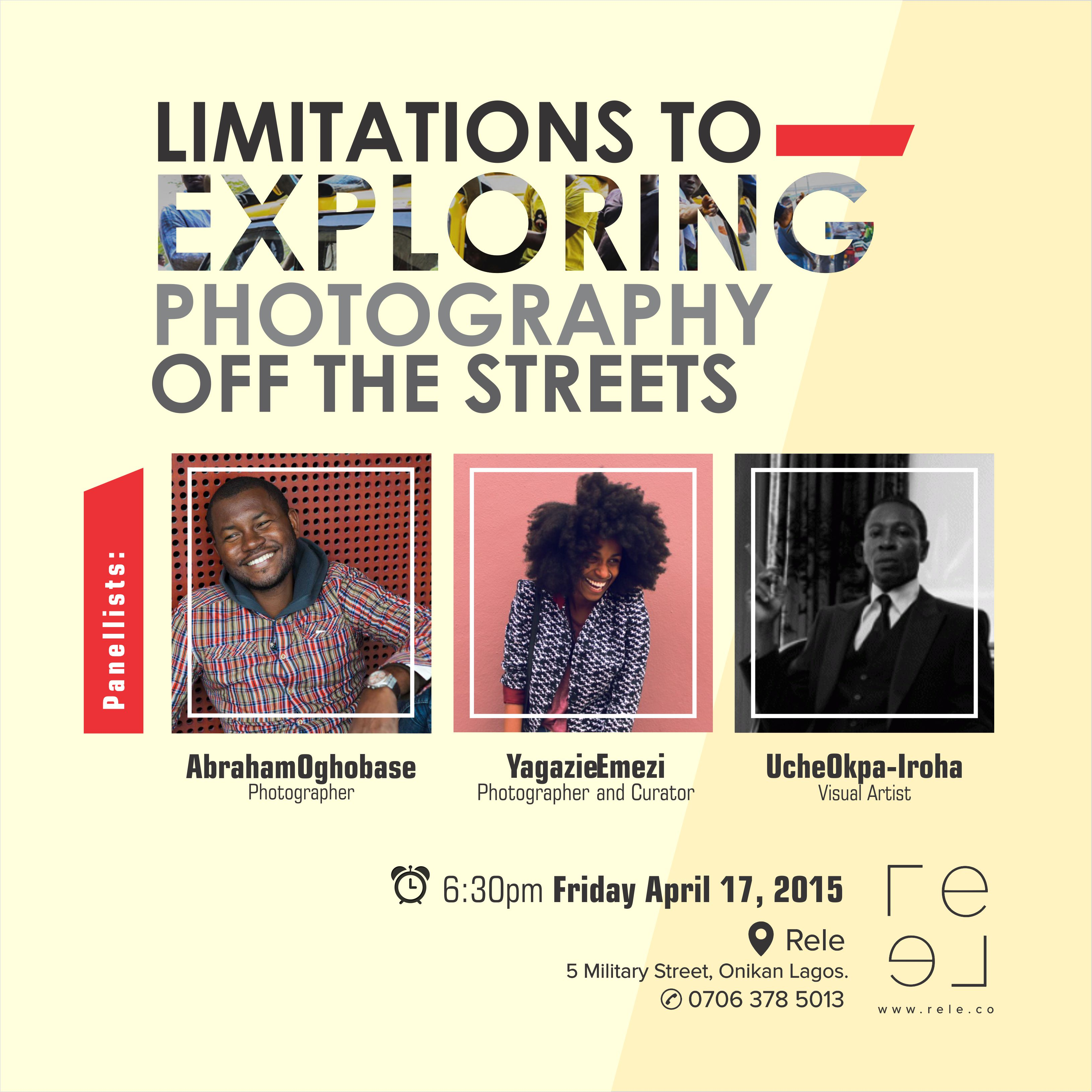 Upcoming | Panel Discussion: Limitations to Exploring Photography off the Streets