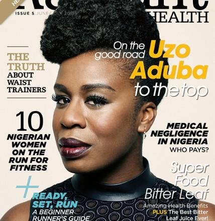 Uzo Aduba Covers the June 2015 Issue of Nigeria's Radiant Health Magazine