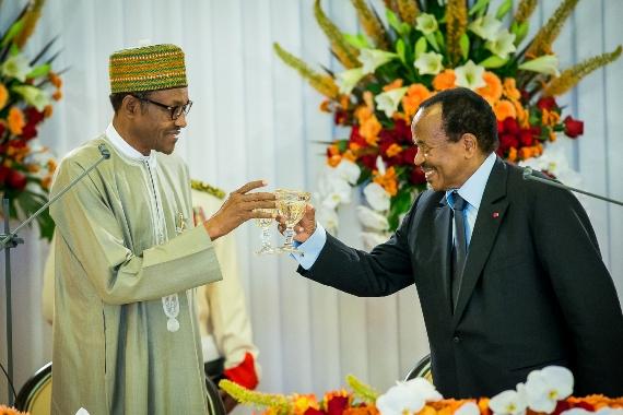 PHOTOS: Cameroon Host Buhari In Elaborate Dinner