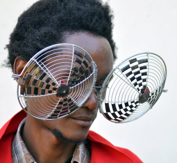 Cyrus Kabiru Fashions Unique Eyewear From Recycled Electronic Trash