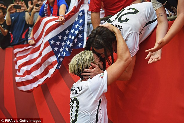 Photo Of The Day : Abby Wambach Kisses Wife After World Cup Win