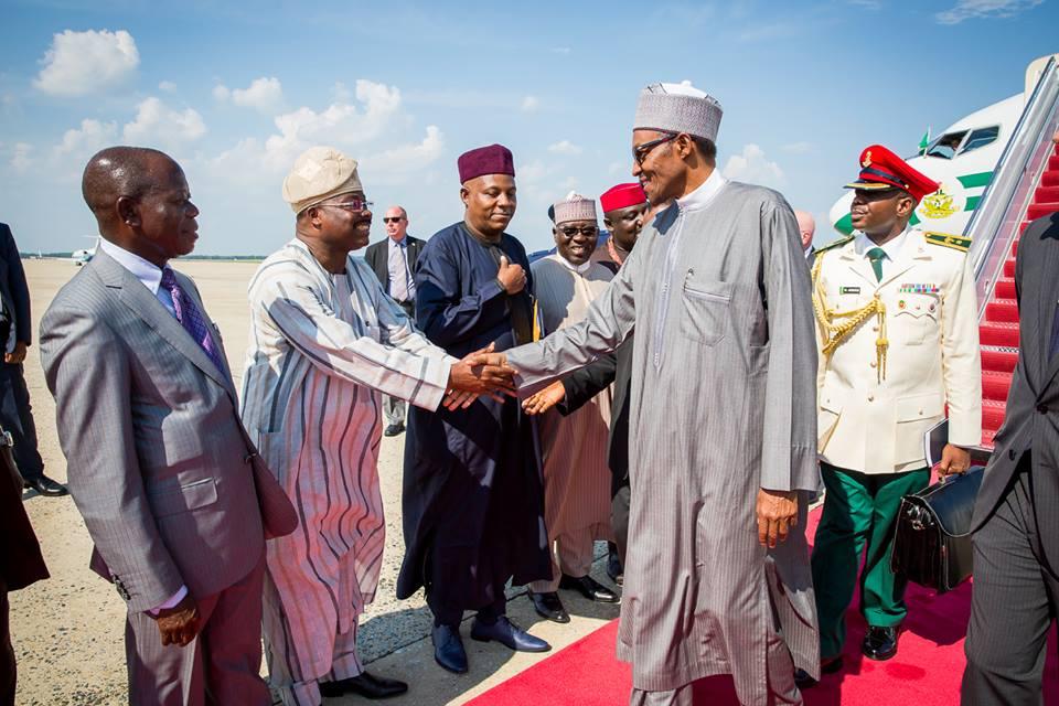 President Buhari Arrives Washington DC