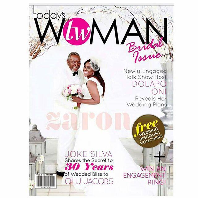 Joke Silva & Olu Jacobs Cover the July 'Bridal' Issue of TW Magazine.