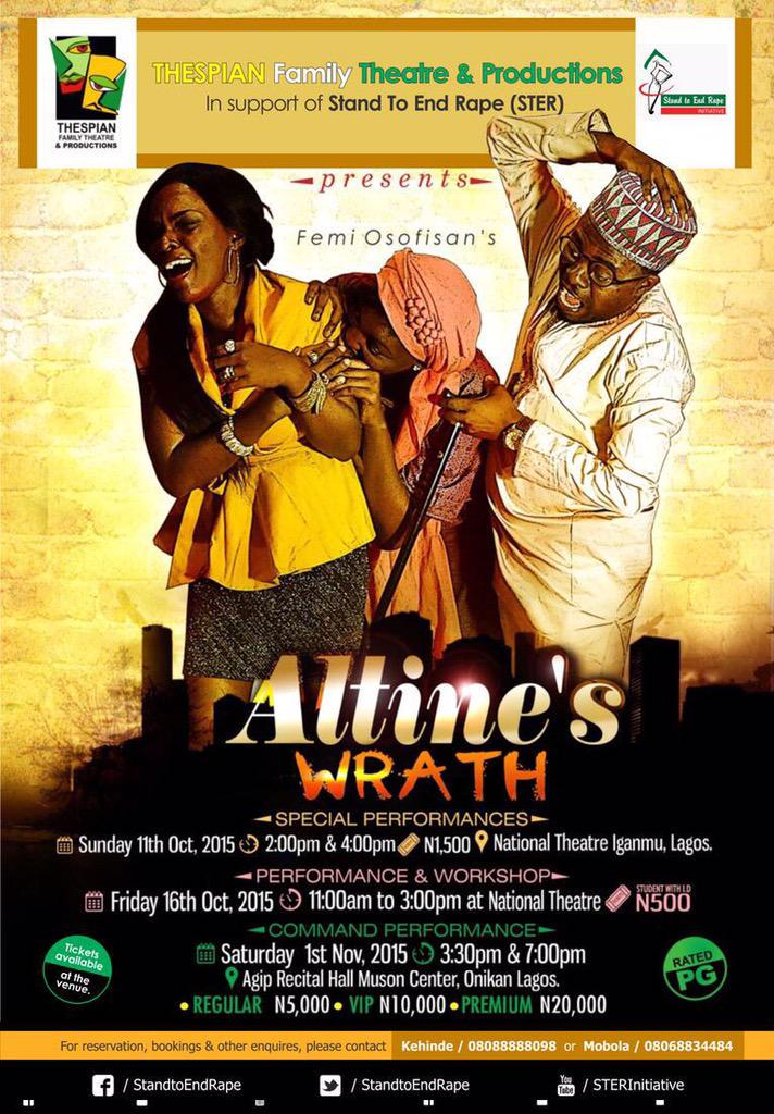 """Thespian Family & STER Present """"ALTINE'S WRATH"""""""