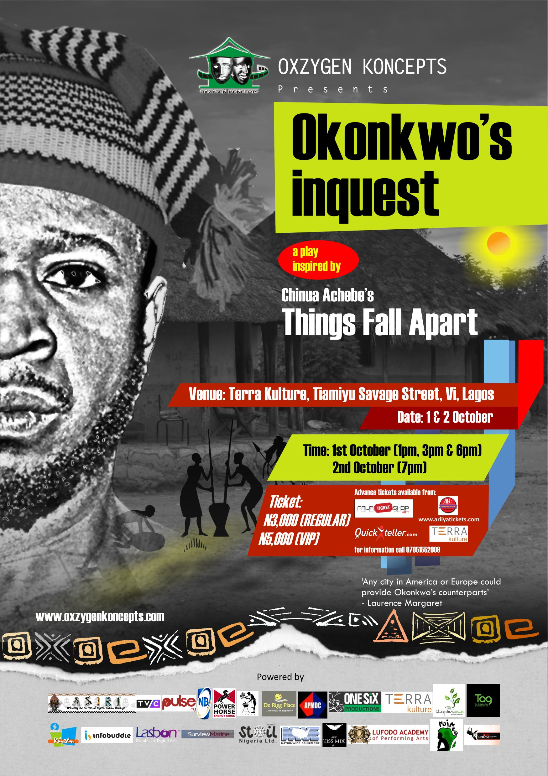 """OKONKWO'S INQUEST: a stage play inspired by """"THINGS FALL APART"""""""