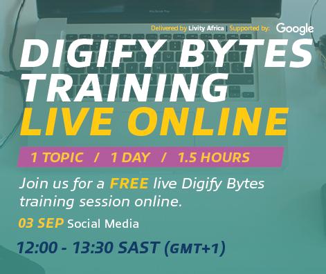 Join the FREE #DigifyBytesLive Social Media master class tomorrow