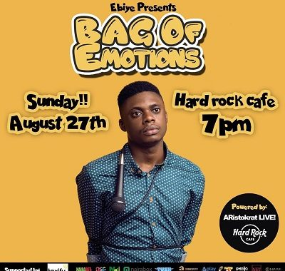 Comedian Ebiye Headlines First Comedy Show BAG OF EMOTIONS At HardRock Cafe Lagos